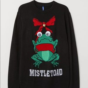 H&M Mistletoad Ugly Christmas Sweater